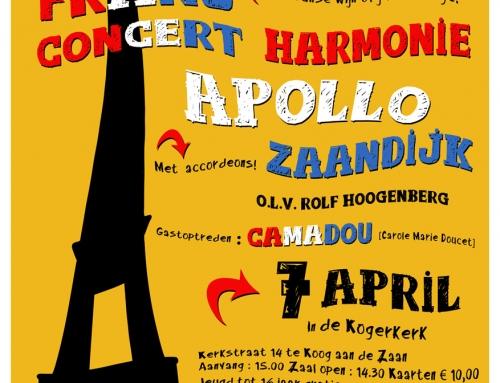 7-04-2019 Camadou met harmonie orkest in Kogerkerk in Koog aan de Zaan
